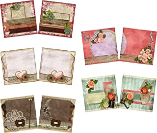 Vintage NPM - Heritage - Scrapbook Set - 5 Double Page Layouts