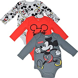 Baby Boys Disney Mickey Mouse Bodysuit Vests 2 Pack Character Clothes Set BNWT