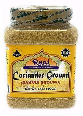 Rani Coriander Ground Powder (Indian Dhania) Spice 14oz (400g) PET Jar ~ All Natural, Salt-Free   Vegan   No Colors   Gluten Free Ingredients   NON-GMO   Indian Origin