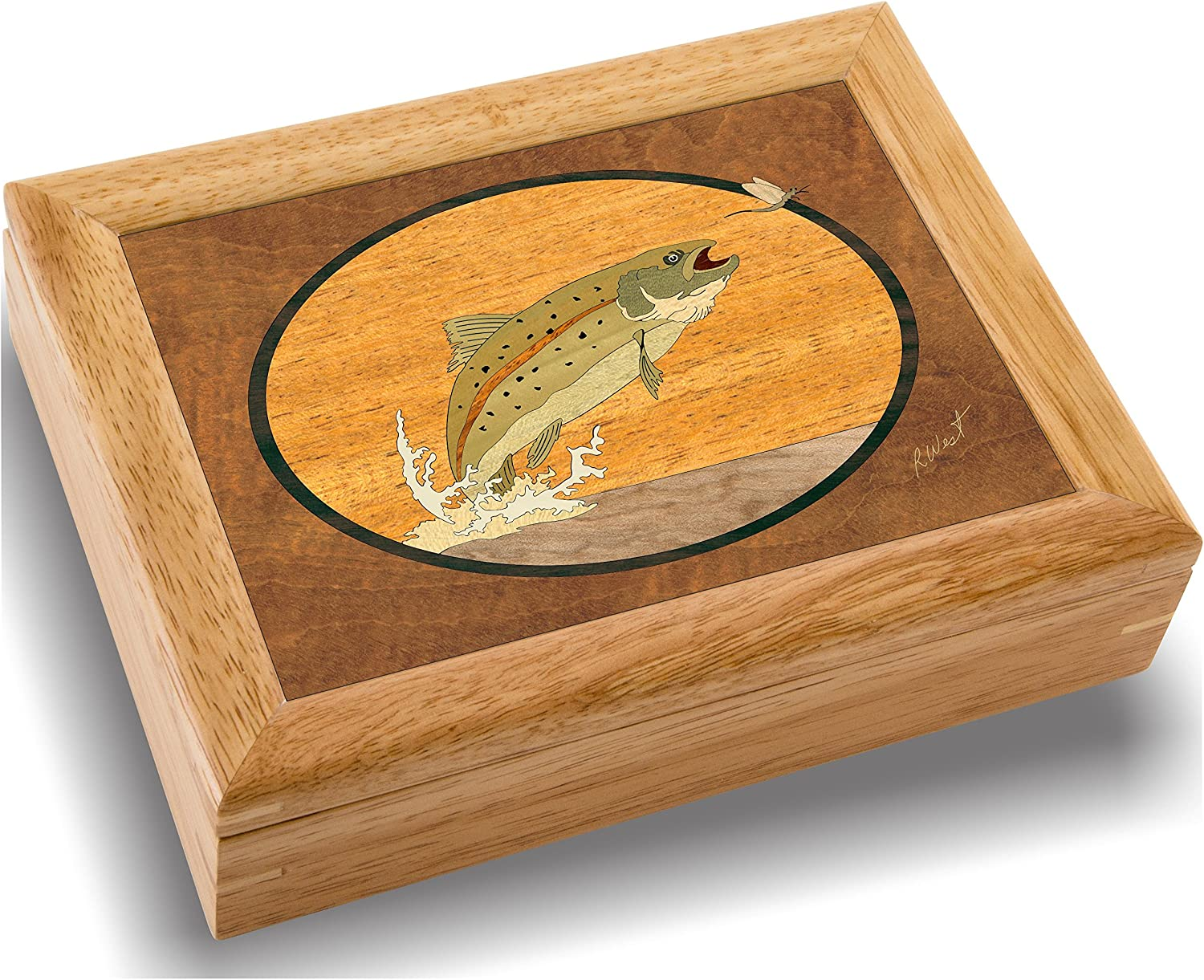 Wood Art Popular product Fish Sale item Box - Handmade Unmatched Quality in USA Unique