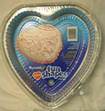 """Reynolds Fun Shapes Hearts 2 Cake Pans with Lids for 8"""" Recipes"""