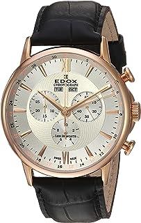 EDOX - Reloj Cronógrafo para Hombre de Cuarzo con Correa en Cuero 10501-37R-AIR