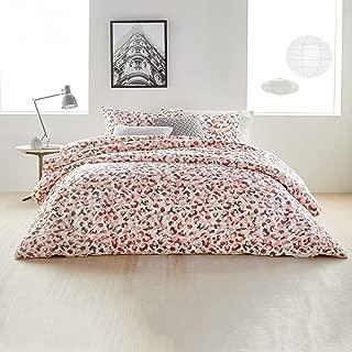 DKNY KNY Wild Geo Comforter Set with Shams and Decorative Throw Pillows, King, Blush
