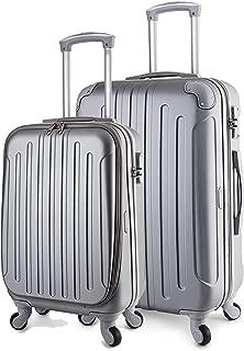 Victoria Luggage Lightweight Spinner Set (Silver, 20