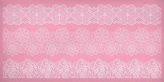 Kitchen Craft SDILACEMAT15 Moule de Glaçage de Dentelle, Plastique, Rose, 9 x 12 x 16 cm