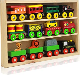 On Track USA Around The Town 12 Piece Wooden Engines & Train Cars, Compatible with Thomas Wooden Railway, Brio and Most Other Brands