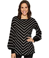 Vince Camuto - Long Sleeve Chevron Intarsia Sweater