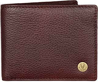WildHorn Genuine Leather Hand-Crafted Bifold Wallet, Ultra Slim Wallet with 6 Card Slots, Coin pocket and 2 Currency Pockets for ID Card, Credit Card, Business Cards, Cash WildHorn Brown WHW161