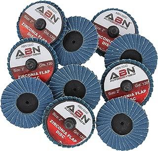 ABN 2in T27 120 Grit High Density Zirconia Alumina Flat Flap Disc Roloc Roll Lock Grinding Sandpaper Wheels 10 PK
