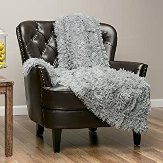 Chanasya Super Soft Shaggy Longfur Throw Blanket   Snuggly Fuzzy Faux Fur Lightweight Warm Elegant Cozy Plush Sherpa Microfiber Blanket   For Couch Bed Chair Photo Props - 60