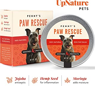 Penny's Paw Rescue - 100% Natural Dog Paw Balm - Relief from Heat, Cold, Allergens & Rough Terrain - Dog Paw Protection, Healing & Paw Soother - Paw Wax for Dogs Made with Hemp Oil, Jojoba, Moringa