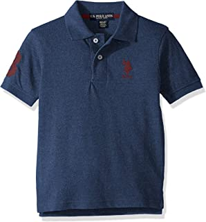 U.S. Polo Assn. Boys' Short Sleeve Marled Pique Polo Shirt