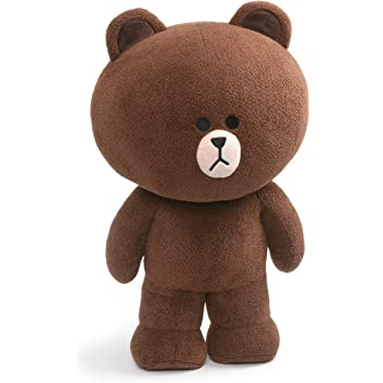 GUND LINE Friends Jumbo Brown Standing Plush Stuffed Animal Bear, Brown, 23""