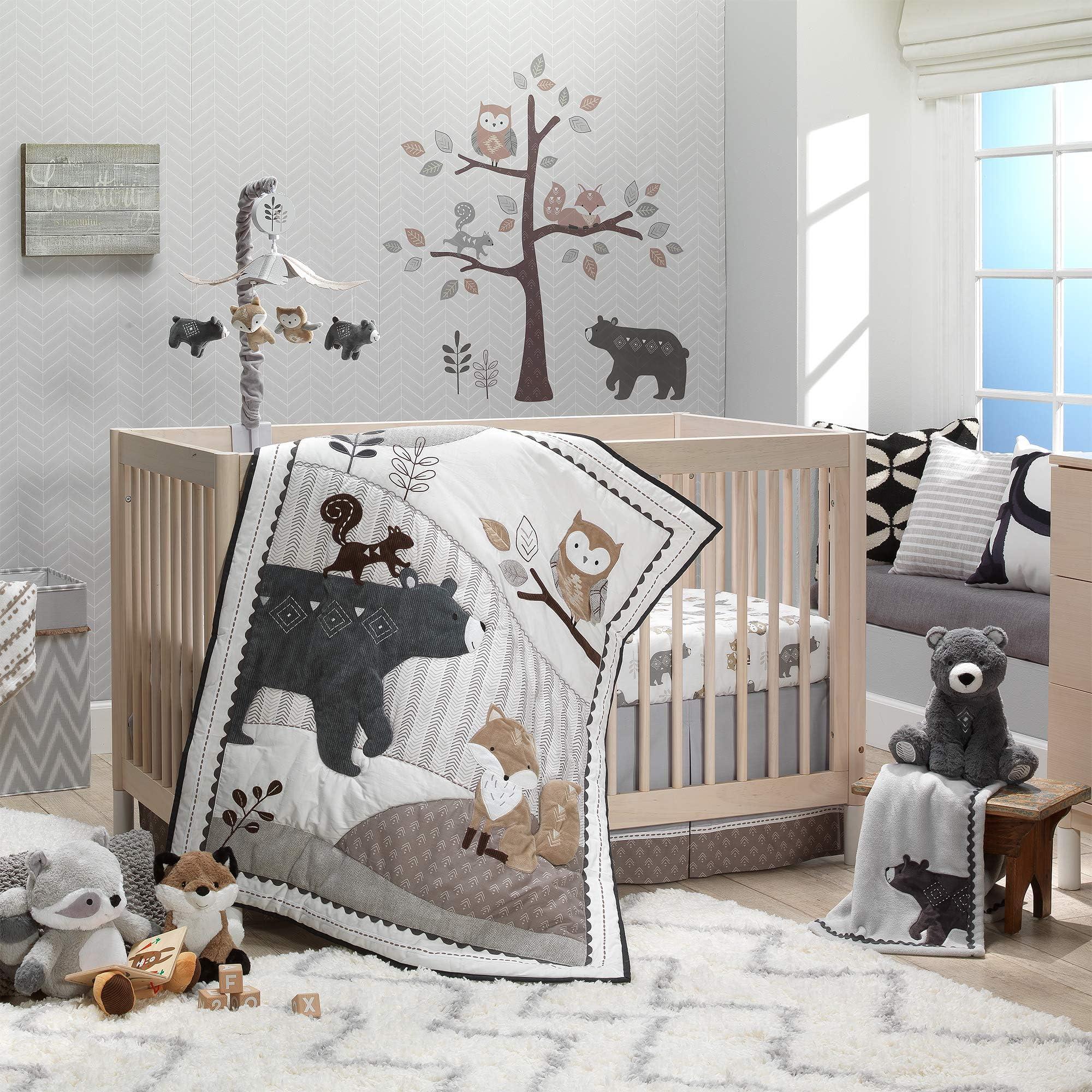 Deer woodland themed shower fawn 5 Piece Baby Girl Gift Set Nursery Burp Cloths Baby Bedding Washcloths