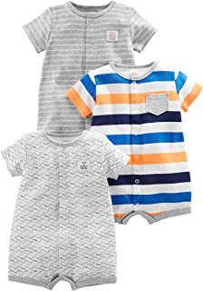 1e9729f72074 Amazon.com  6-9 mo. - Rompers   Footies   Rompers  Clothing