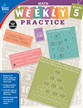 Carson-Dellosa Weekly Practice: Math Workbook, Grade 5