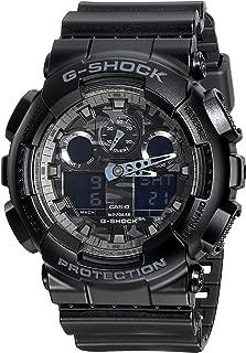 G-Shock Analog Digital Dial Black Resin Mens Watch GA100CF-1A