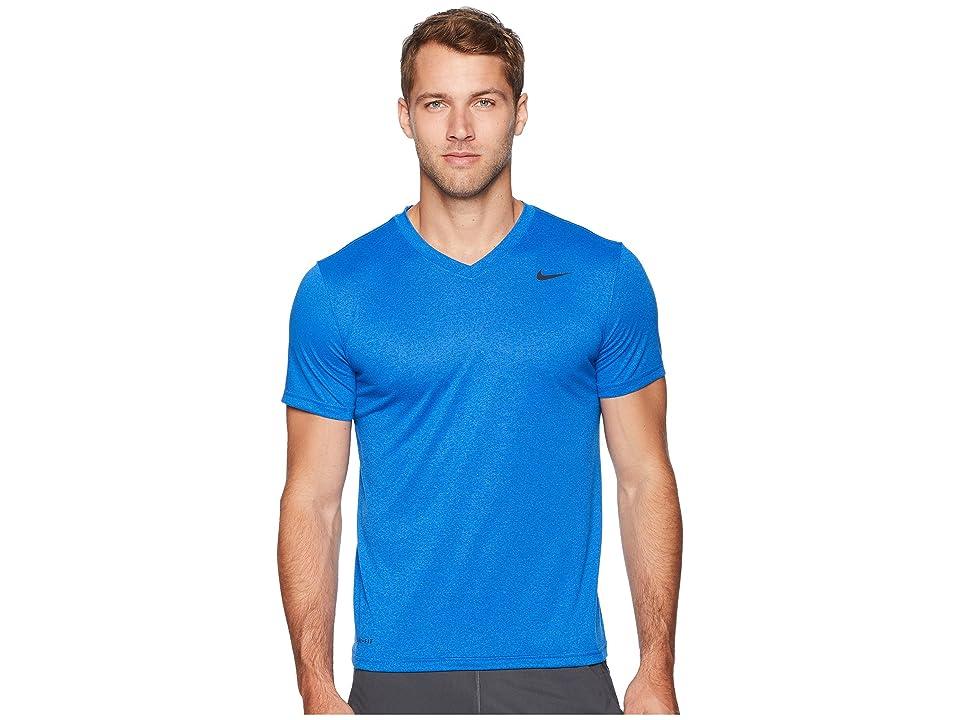 Nike Legend 2.0 Short Sleeve V-Neck Tee (Gym Blue/Signal Blue) Men