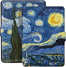 E4DEAL Slim Case for Kindle Paperwhite(10th Generation-2018), Smart Shell Cover with Auto Sleep Wake Feature for Kindle Paperwhite 10th Gen 2018 Released(Star Sky)