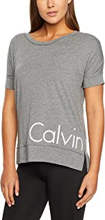 Calvin Klein Women's Short Sleeve Tshirt with Reflective Logo