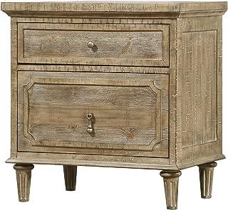 Artum Hill BE5-825 Kensington Nightstand, 2-Drawer, Limestone Gray