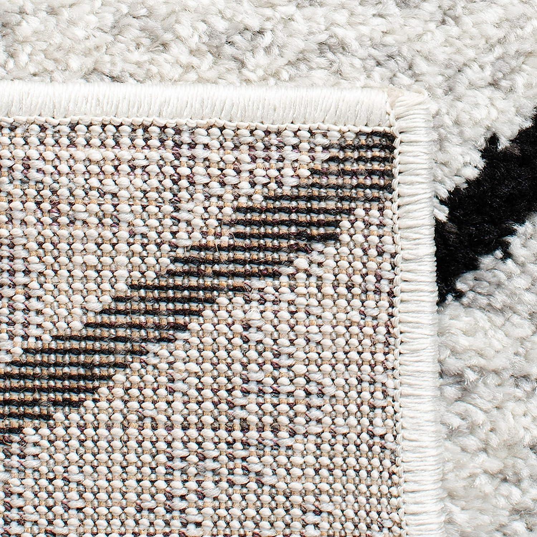 Ivory//Grey 2 6 x 10 Safavieh Adirondack Collection ADR251A Modern Geometric Runner