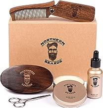 Beard Kit Beard Oil and Beard Balm - Beard Grooming & Trimming Kit Beard Brush Beard Comb and Scissors included