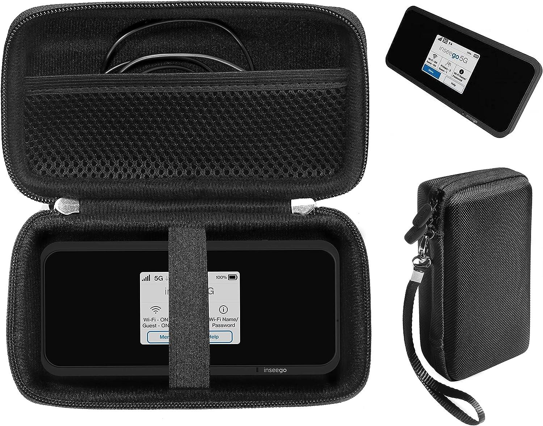 CaseSack Case for Inseego MiFi M2100, M2000 Hotspot, Verizon Wireless Jetpack 8800L 4G LTE, Mesh Accessory Pocket, Detachable Wrist Strap