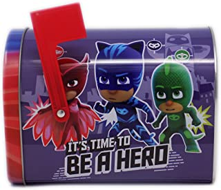 Disney Tin PJ Masks Valentine Day Mailbox for Sharing Cards Classroom