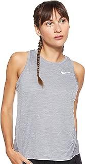 Nike Women's MILER Tanks, Silver (Gunsmoke/Heather/Reflective Silver ), Small (NKAJ8102)