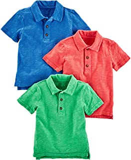 Simple Joys by Carter's Toddler Boys' 3-Pack Short Sleeve Polo