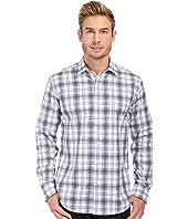 BUGATCHI - Fairbanks Shaped Fit Long Sleeve Woven Shirt