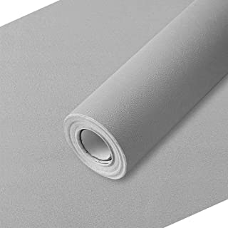 Wall Paper Light Gray Contact Paper 17.7 in x 28 Ft PVC Self Adhesive Wallpaper Thick Waterproof Easy to Clean Wall Coveri...