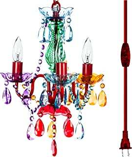 The Original Gypsy Color 3 Light Mini Plug-in Gypsy Chandelier for H17