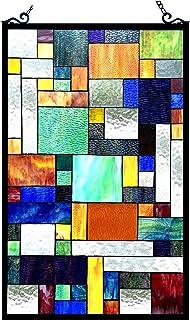 Chloe Lighting 20x32 AVANT-GARDE Tiffany-glass Rectangle Window Panel, One Size