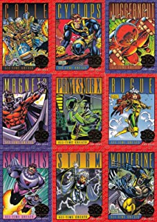 X-MEN SERIES 2 1993 SKYBOX 30 YEARS GOLD FOIL STAMPED INSERT CHASE CARD SET G1 - G9 MARVEL