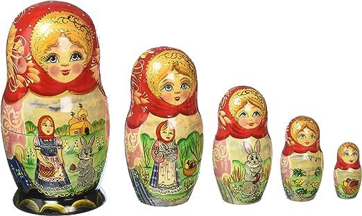"""G. Debrekht Easter Story Nested Doll, 6"""""""