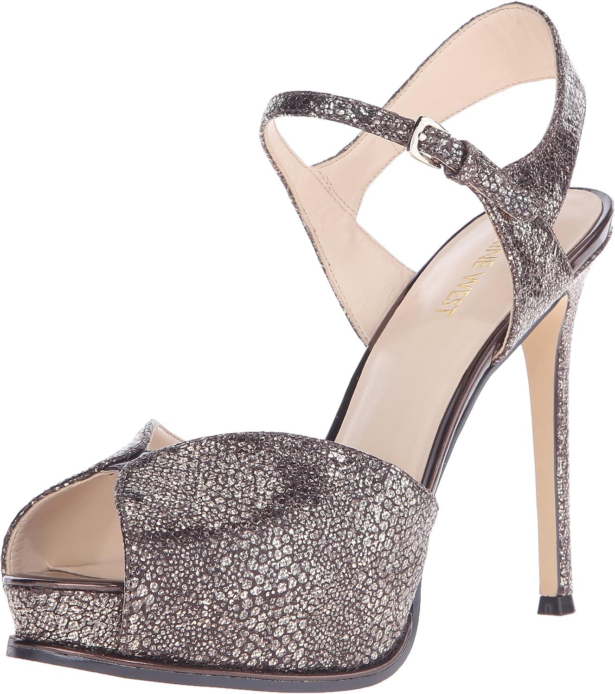 Nine West Womens Cruzeto Metallic Dress Sandal