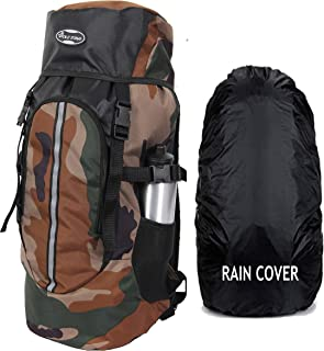 POLESTAR Hike Camo 44 Ltr Rucksack With Rain Cover For Trekking Hiking Travel Backpack