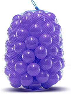 Ball Pit Balls - Phthalate and BPA Free - Crush Proof Plastic Pit Balls - Kiddy Trampoline Balls For Ball Pit and Bounce House Balls. For Ball pits for toddlers, bathtime, or, swimming pool - Purple