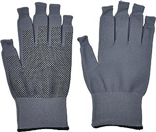 ミドリ安全 スマホ対応 指先を出せる 作業手袋 スライドタッチ手袋 滑り止め付 グレー L 1双入