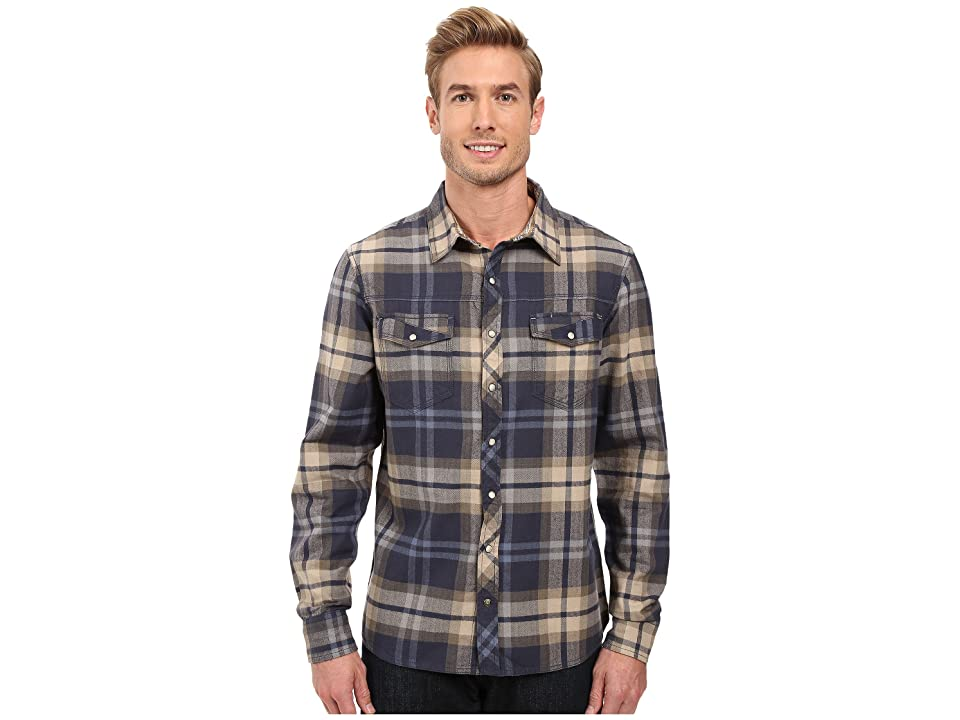 Ecoths Fletcher Long Sleeve Shirt (Ombre Blue) Men