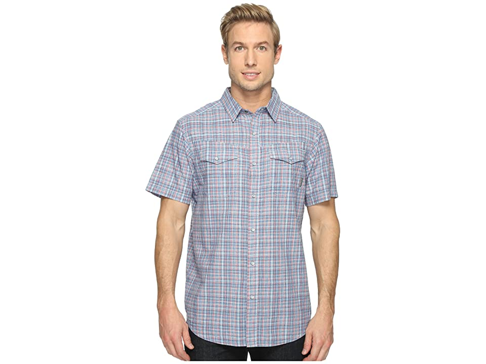 Columbia Leadville Ridgetm Short Sleeve Shirt (Marine Blue Plaid) Men