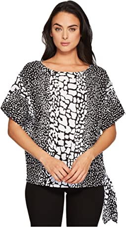 MICHAEL Michael Kors - Croc Print Tie Top