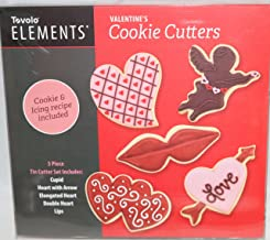 Tovolo Elements Valentine's Day Cookie Cutters Set of 5 Hearts Cupid Lips