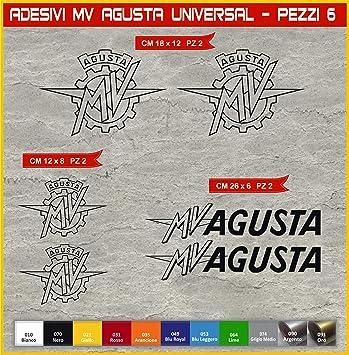 Aufkleber Stickers Mv Agusta Mvagusta Universal Motorrad Cod 0581 Arancione Cod 035 Sport Freizeit