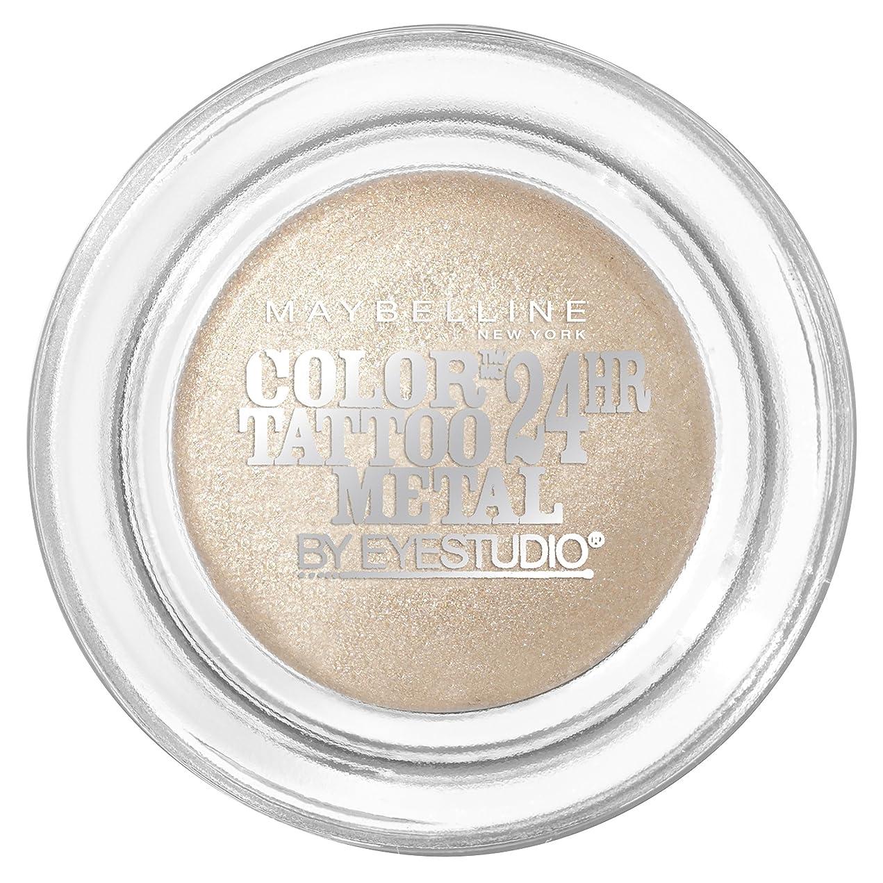 擬人リップ含むMAYBELLINE Eye Studio Color Tatoo Metal 24Hr Cream Gel Eye Shadow - Barely Branded (並行輸入品)