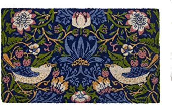 Entryways Victoria and Albert Museum Strawberry Thief Coir Doormat, Multi, 45 x 75