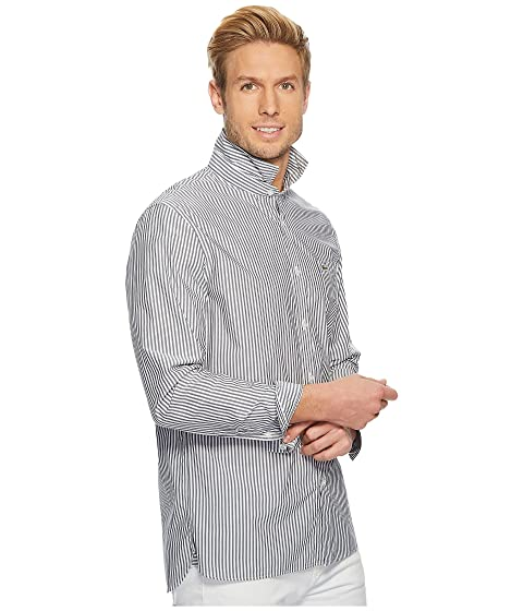 Regular Stripe Poplin Sleeve Collar Bengale Long Lacoste Button Down qTZW8TpgB