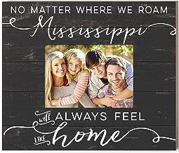 Kindred Hearts Weathered Slat Feels Like Home Mississippi Photo Frame, Multicolor